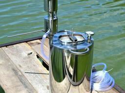 Дистиллятор вертикальный с емкостью на 20 литров. Нержавейка