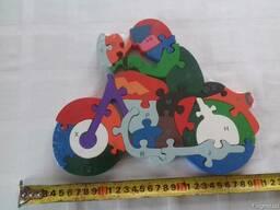 Дитяча розвиваюча дерев'яна іграшка пазли-конструктор