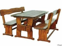 Стол деревянный для загородного дома 1200*800