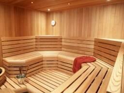 Дизайнерская деревянная обшивка для парной
