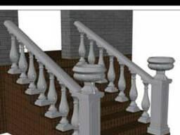 Дизайнерские решения балюстрадой террасы, колонны, балконы.