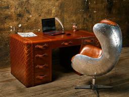 Дизайнерское кресло Aviator Egg chair (Эгг) алюминий, коричн