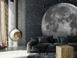 Дизайнерские фотообои Moon в стиле футуризма для дома. ..