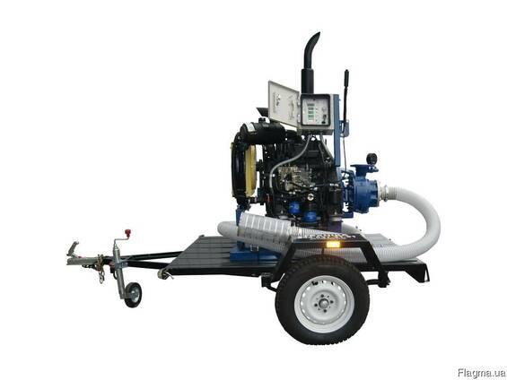 Дизельная насосная станция (установка) 26-37 кВт передвижная