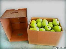 Для яблок гофроящик компакт (крышка -дно) 488х309х281(Д/Ш/В)