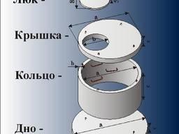 Днища кольца колодезные железобетонные