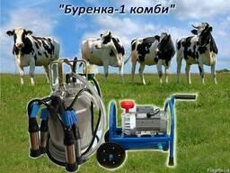 """Доильный аппарат """"Буренка-1 комби"""" с нержавеющими стаканими"""