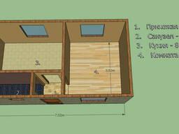 """Дом 7 на 3,75м. Срок 10 дней """"коробка дома"""" под отделку"""