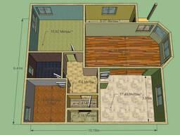 Дом 98, 36 м. кв. Размер 9, 41 на 10, 18м. Срок - 1, 5 мес.