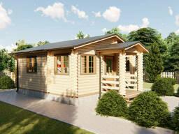 Дом дачный деревянный из профилированного бруса 6х6 м с. ..