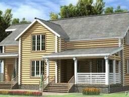 Дом деревянный из оцилиндрованного бревна 13×16 м
