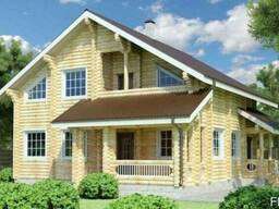 Дом деревянный из оцилиндрованного бревна 12х10 м