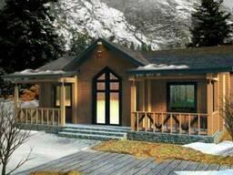 Дом деревянный из профилированного клееного бруса 11х10 м