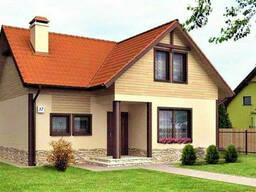 Дом деревянный из профилированного клееного бруса 14х12 м
