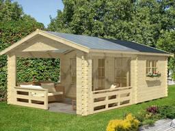Дом деревянный из профилированного бруса 3.8х6.1