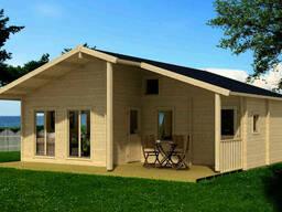 Дом деревянный из профилированного бруса 7.8х7.3