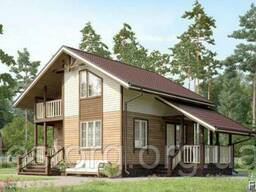 Дом деревянный из профилированного бруса 7х7 м.