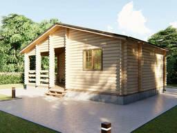Дом деревянный из профилированного бруса 8х5, 5 м