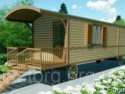 Дом деревянный мобильный 6х2,35