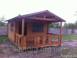 Дом деревянный сборный из профилированного бруса 6*4м