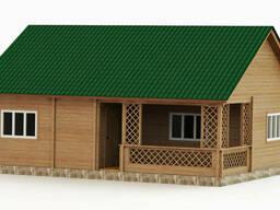 Дом деревянный сборный из профилированного бруса с. ..
