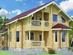 Дом деревяный из оцилиндрованного бревна 11х9м