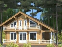 Деревянный дом из профилированного бруса 14х12 м