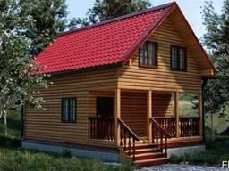 Дом из профилированного бруса 6х8 м