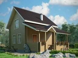 Строительство дома из профилированного бруса 6х8 м