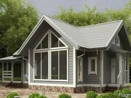 Деревянный дом из профилированного бруса 7х14 .