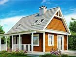 Дом из профилированного клееного бруса 7х9 м - фото 1