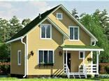 Дом из профилированного клееного бруса, деревянный 8х8 м - фото 1