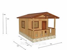Дом из профилированного бруса с верандой 3, 5х5