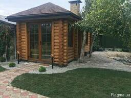 Дом из термо-дерева (сруб)