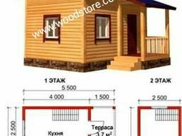 Дом каркасный. Домик деревянный летний гостевой