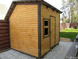 Дом садовода деревянный сборный щитовой, размер 2500х3000х28
