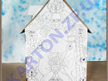 Игровой Домик раскраска из картона - фото 1