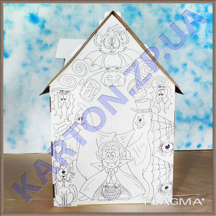 Игровой Домик раскраска из картона