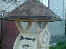 Домик для колодца деревянный резной