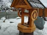 Домик для колодца деревянный с совой - фото 2
