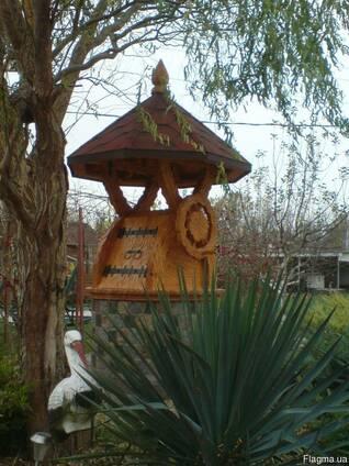 Домик для колодца деревянный, укрытие для колодца