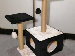 Домик-когтеточка для котов домик когтеточка