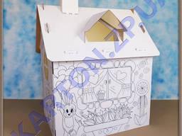Домик - раскраска для детей
