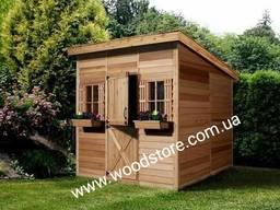 Домик садовый дачный из дерева. Каркасное строительство