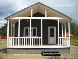 Дачный домик деревянный недорого и быстро