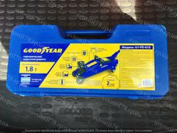 Домкрат гидравлический подкатной 1.8 т (чемодан) высота подъема 320 мм GoodYear
