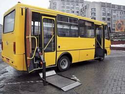 Дооборудование автобусов Богдан ( инвалидными площадками )