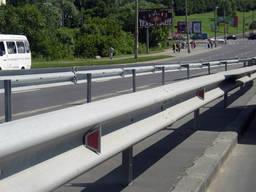 Дорожное оцинкованное ограждение 11ДО-2 (3мм) доставка по всей Украине