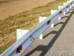Дорожные ограждения металлические барьерного типа 11ДО, 11Д