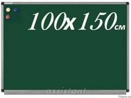 Доска меловая магнитная 100х150см. офисная школьная